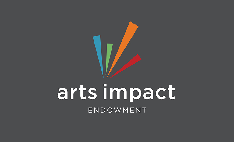 arts impact logo on a gray background