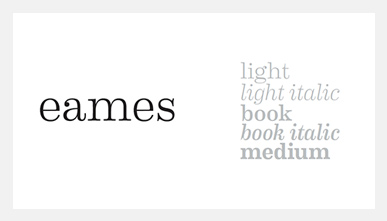 Eames font example
