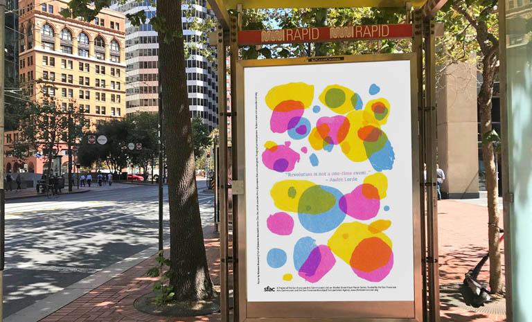 colorful market street poster series by Jessalyn Aaland