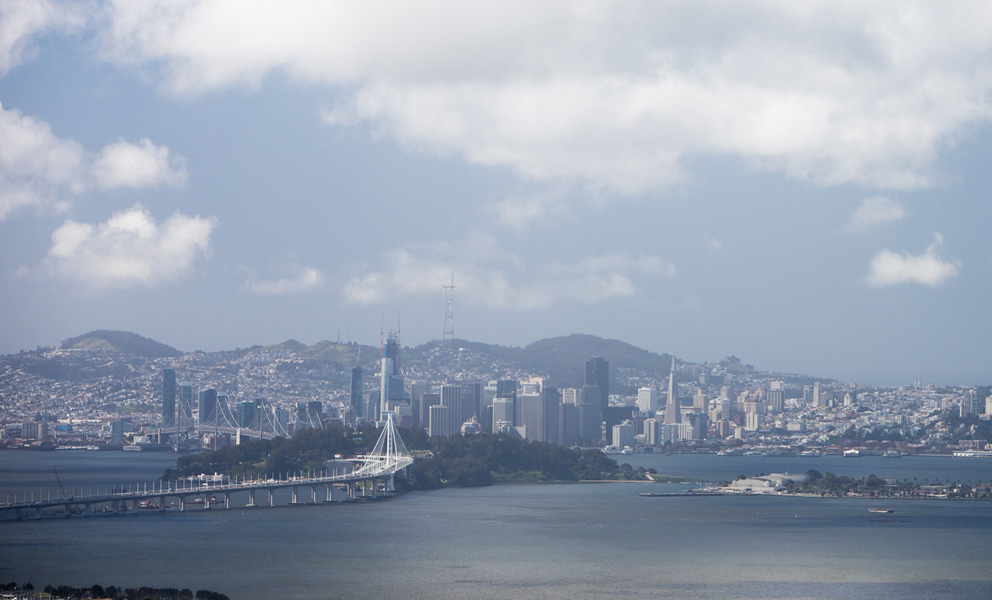 View of Treasure Island from the East Bay