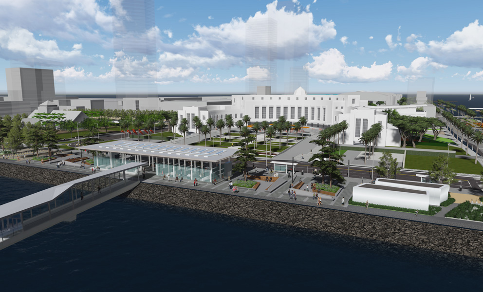 Rendering of the Treasure Island Ferry Terminal