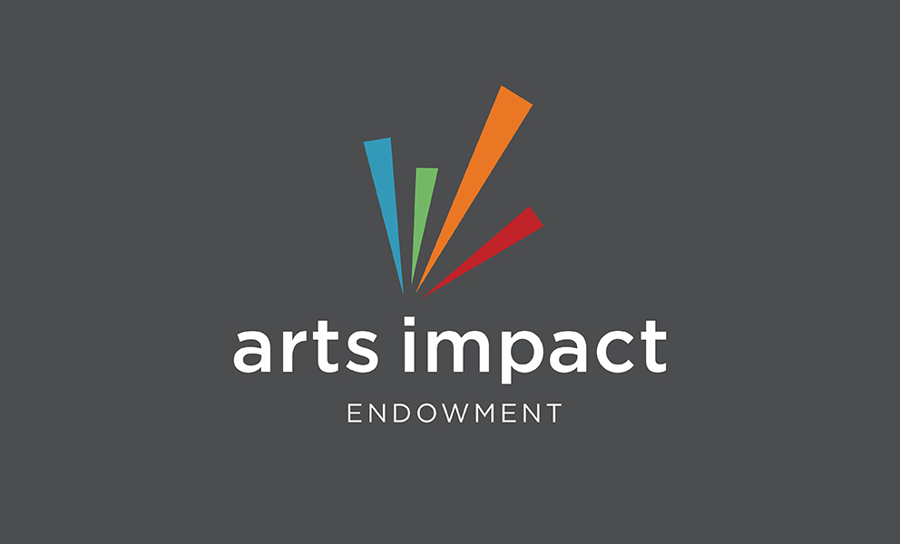 arts impact logo on a gray background