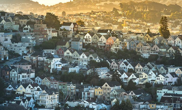 View of San Francisco housing
