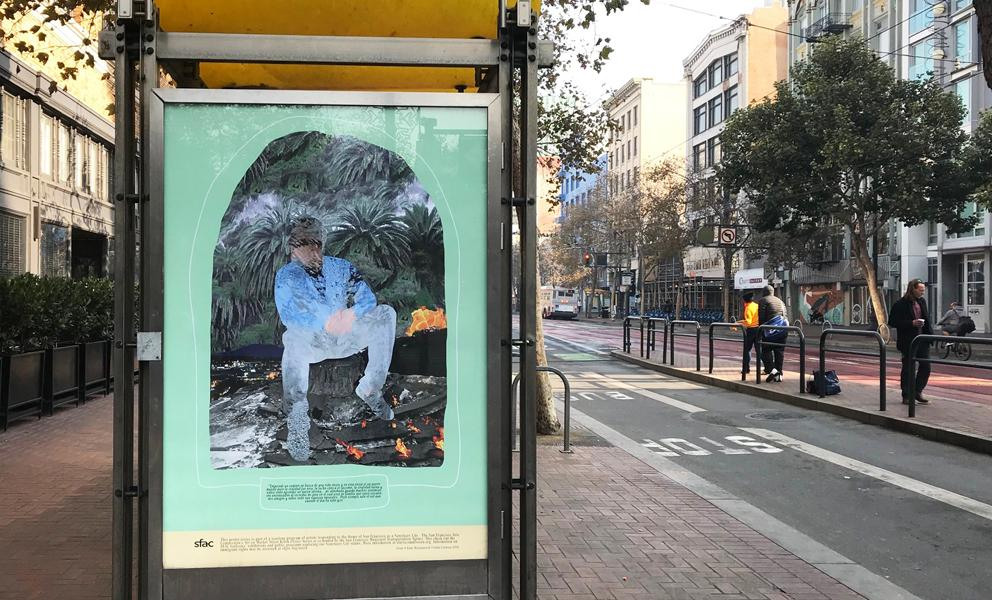 Market Street poster in bus kiosk